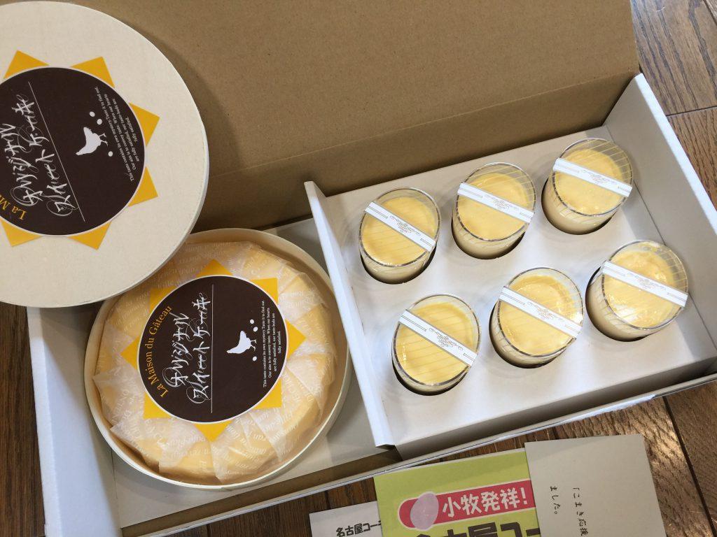 ふるさと納税愛知県小牧市名古屋コーチン卵の半熟なめらかプリン&クリームチーズケーキ