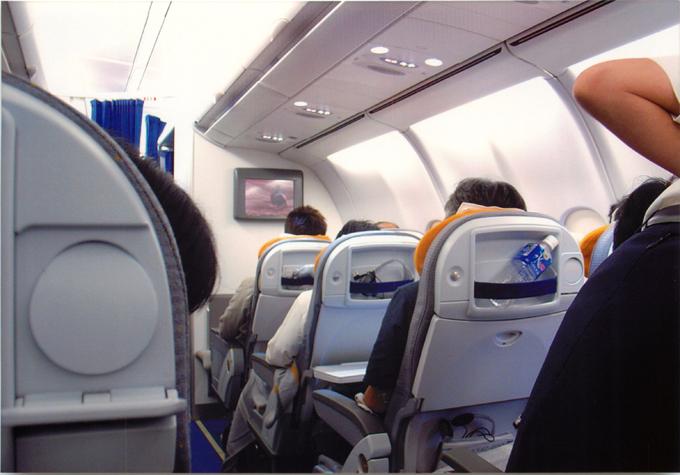 ルフトハンザドイツ航空機内の様子