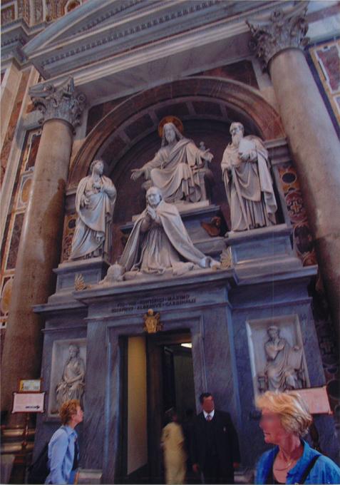 サン・ピエトロ寺院のキリスト像