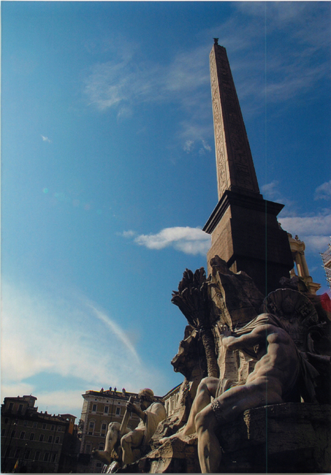 ナヴォーナ広場四大河の噴水