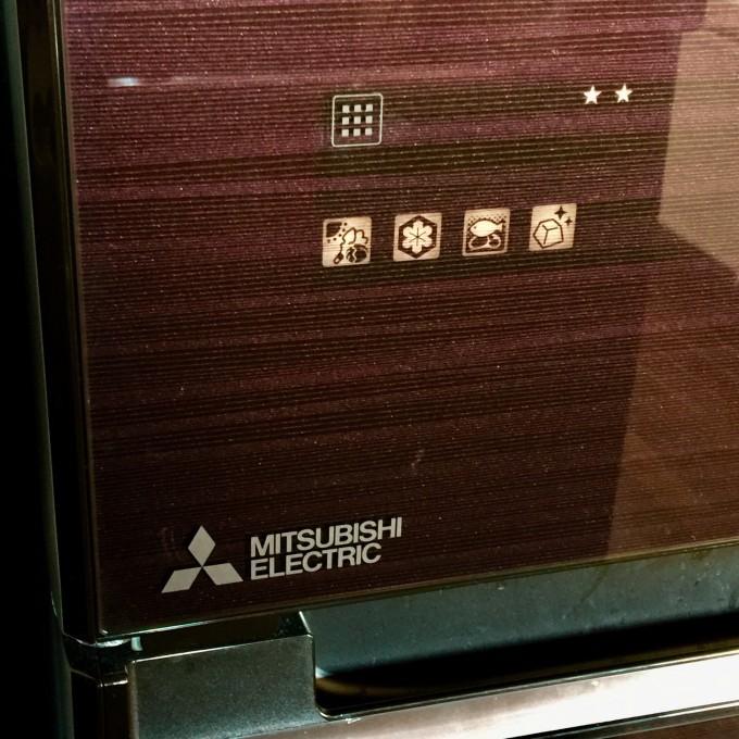 三菱冷蔵庫のタッチパネル